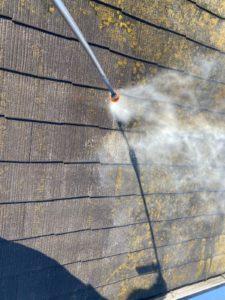 スレート瓦の高圧洗浄