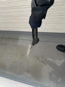 ベランダの床の洗浄